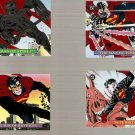 1993 Skybox DC Bloodlines Embossed Foil Card Set of 4