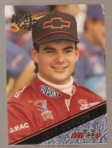 1994 High Gear Promos Racing Card #P1 Jeff Gordon Silver