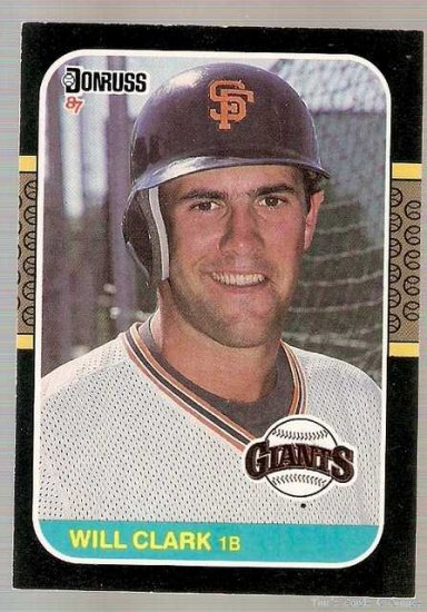 1987 Donruss Baseball Card #66 Will Clark Rookie