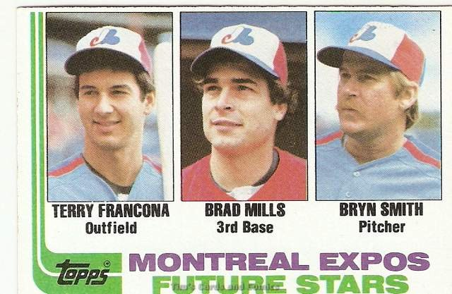 1982 Topps Baseball Card #118 Terry Francona, Brad Mills, Bryn Smith RCs EX-MT