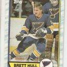 1989-90 Topps Hockey Card #186 Brett Hull NM