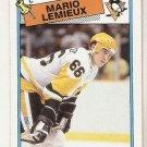 1988-89 Topps Hockey Card #1 Mario Lemieux EX