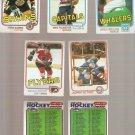 Lot of 7 1981-82 Topps Hockey Cards