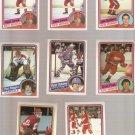 Lot of 8 1984-85 Topps Hockey Cards