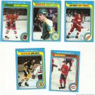 Lot of 5 1979-80 Topps Hockey Cards