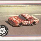 1988 Maxx Racing Card #81 Ken Schrader's Car