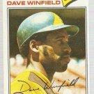 1977 Topps Baseball Card #390 Dave Winfield VG
