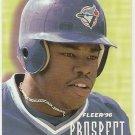 1996 Fleer Prospects Baseball Card #10 Shannon Stewart