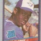 1986 Leaf Baseball Card #28 Fred McGriff RC