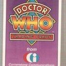 Doctor Who Promo Card #A1 Logo Cornerstone 1994