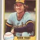 1981 Fleer Baseball Card #511 Robin Yount NM