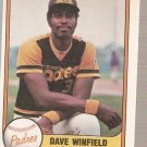 1981 Fleer Baseball Card #484 Dave Winfield EX