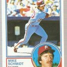 1983 Topps Baseball Card #300 Mike Schmidt EX