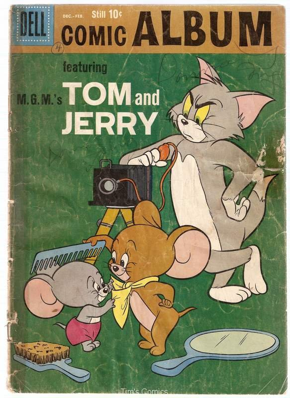 Comic Album #4 Tom and Jerry Dell Comics 1959 Poor