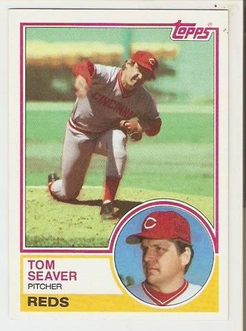 1983 Topps Baseball Card #580 Tom Seaver NM