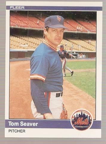1984 Fleer Baseball Card #595 Tom Seaver NM or better A