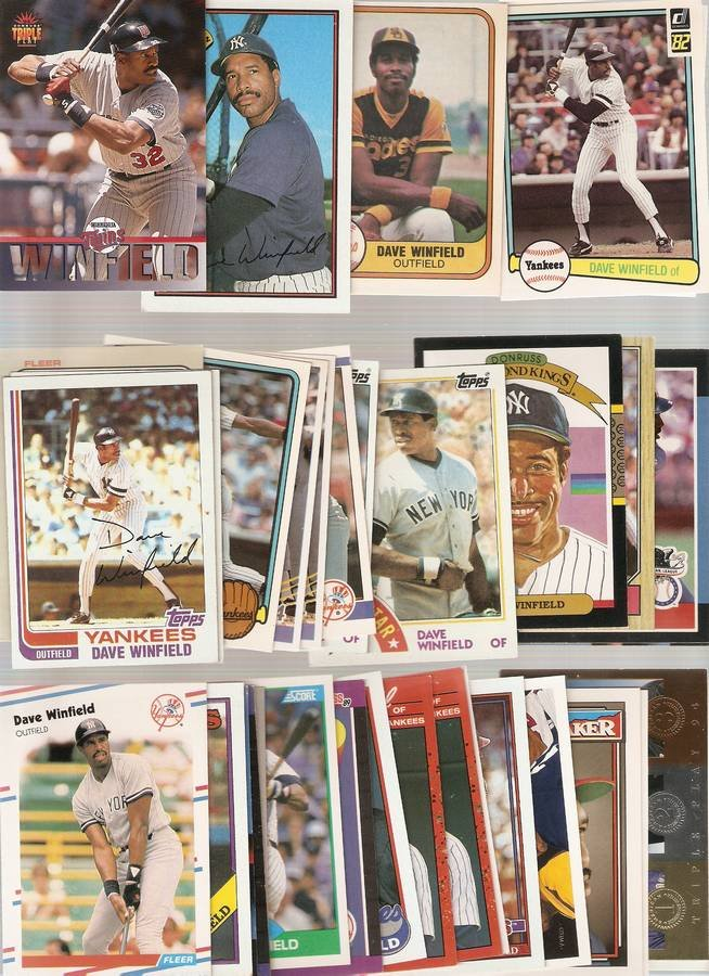 Lot of 35 Dave Winfield Baseball Cards Padres Yankees A
