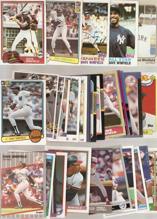 Lot of 35 Dave Winfield Baseball Cards Padres Yankees B