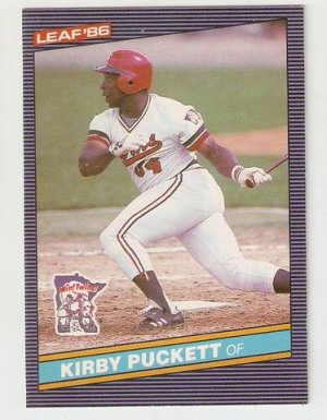 1986 Leaf Baseball Card 69 Kirby Puckett Minnesota Twins Nm Or Better