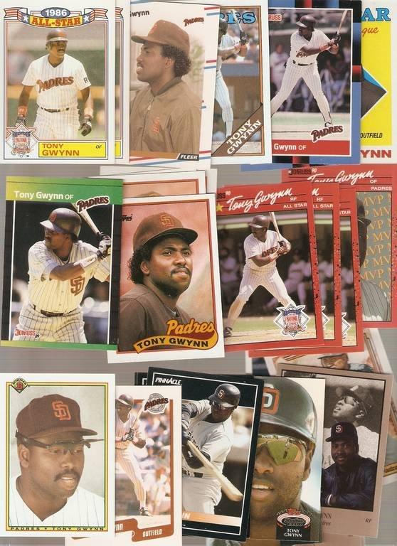 Lot of 30 Tony Gwynn Baseball Cards Padres