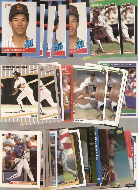 Lot of 37 Roberto Alomar Baseball Cards Padres Blue Jays