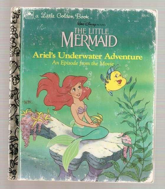 The Little Mermaid Ariel's Underwater Adventure Little Golden Books Book 1992