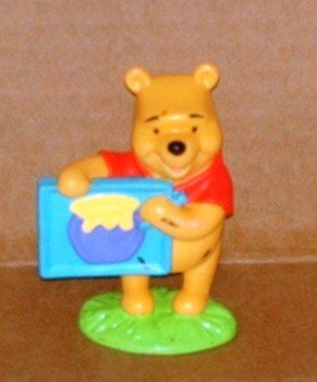 Disney Winnie The Pooh Holding Sign PVC Figure Fisher Price
