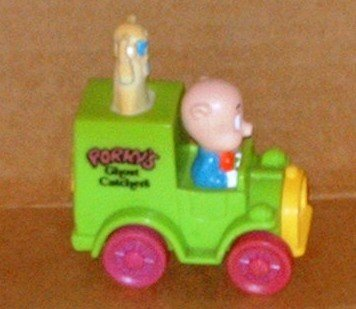 McDonald's 1993 Looney Tunes Quack-Up Cars Porky Pig Ghost Catcher Happy Meal Toy