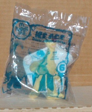 McDonald's 2009 Ice Age Dawn of Dinosaurs Sid Toy # 6 in Original Bag Happy Meal B