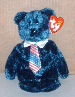 Ty Beanie Babies Pops the Bear USA Tie with Tags