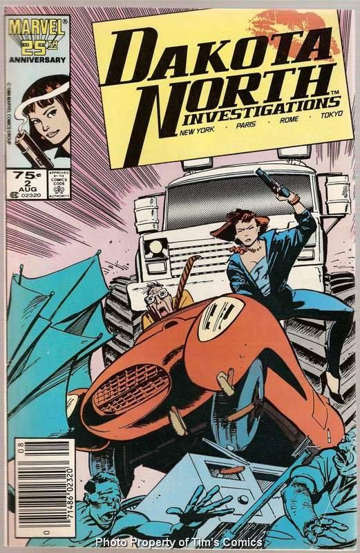 Dakota North #2 Marvel Comics Aug. 1986 VG