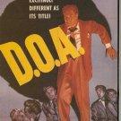 D.O.A. Starring Edmond O'Brien Pamela Britton Luther Adler VHS Movie Used