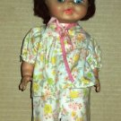 Vintage Baby Doll in Flowery Pajamas