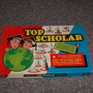 Vintage Top Scholar Board Game 1957 Cadaco Ellis Ages Pre-Teen to Adult Good