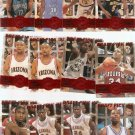 1995 Press Pass Die Cut Basketball Lot of 12 Cards