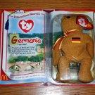 TY McDonald's Teenie Beanie Babies International Bear II Germania