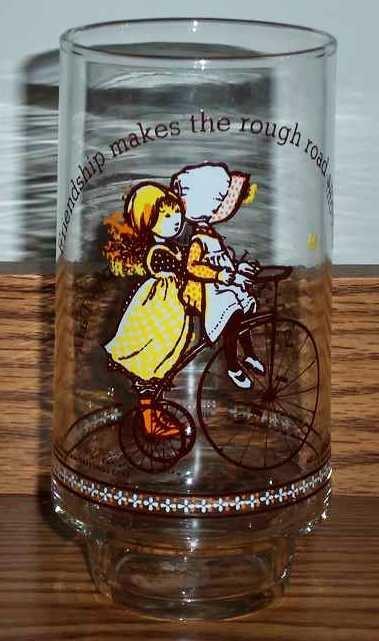 Vintage Holly Hobbie Happy Talk Coca-Cola Limited Edition Glass Friendship