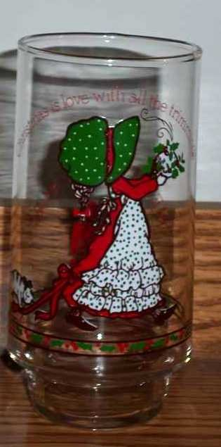Vintage Holly Hobbie Christmas Coca-Cola Limited Edition Glass