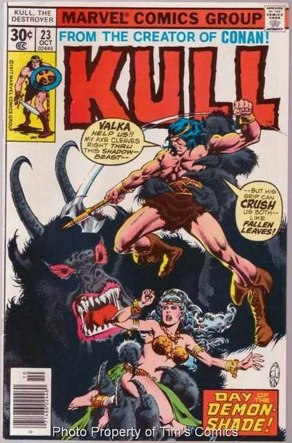 Kull the Conqueror (1971 series) #23 Marvel Comics Oct. 1977 VG