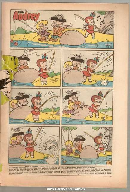 Little Audrey #53 Harvey Comics April 1957 Poor