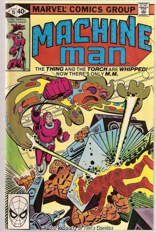 Machine Man (1978 series) #15 Marvel Comics June 1979 GD/VG