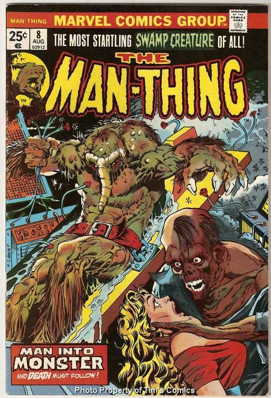 Man-Thing (1974 series) #8 Marvel Comics Aug. 1974 FR