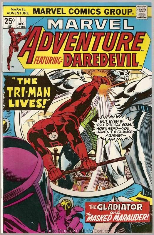 Marvel Adventure (1975 series) #1 Featuring Dardevil Marvel Comics Dec. 1975 FN