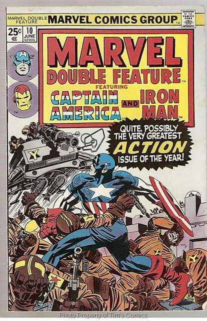Marvel Double Feature (1973) #10 Captain America Iron Man Marvel Comics June 1975 VG
