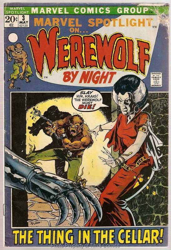 Marvel Spotlight (1971 series) #3 Werewolf By Night Marvel Comics May 1972 FR