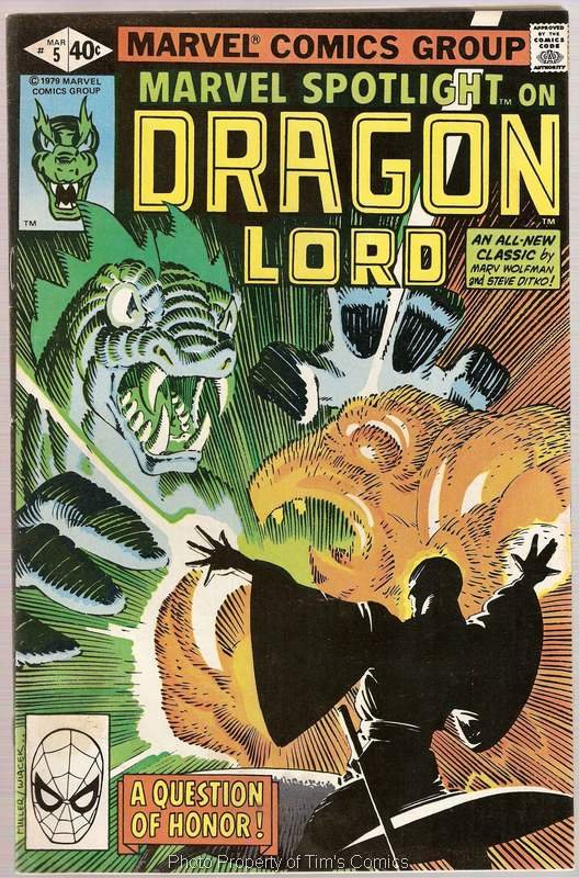 Marvel Spotlight (1979 series) #5 Dragon Lord Marvel Comics March 1980 FN