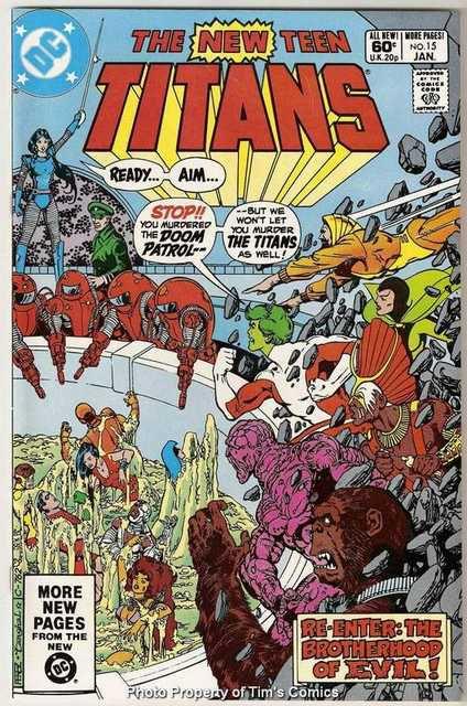 New Teen Titans (1980 series) #15 DC Comics Jan. 1982 VF/NM