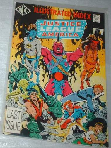 Official Justice League of America Index (1983 series) #8 ICG Comics March 1987 VG/FN