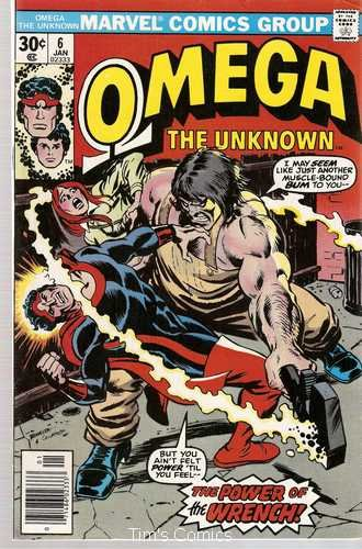 Omega the Unknown (1976 series) #6 Marvel Comics Jan. 1977 VG