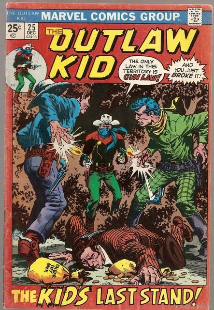 Outlaw Kid (1970 series) #25 Marvel Comics Dec. 1974 GD/VG